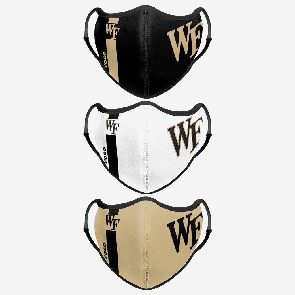 Wake Forest Demon Deacons Sport 3 Pack Face Cover FOCO - FOCO.com