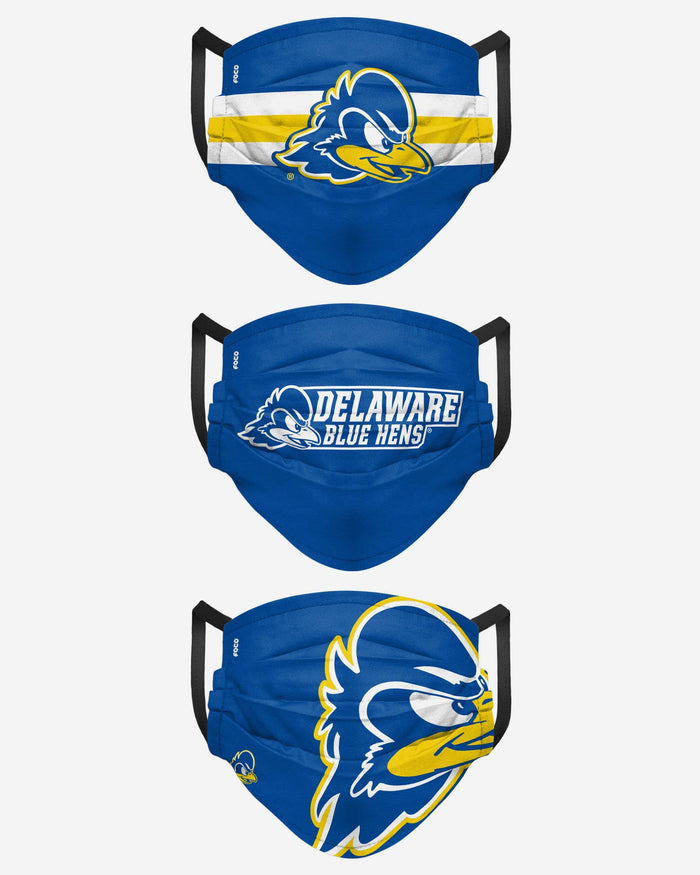 Delaware Fightin Blue Hens Matchday 3 Pack Face Cover FOCO - FOCO.com