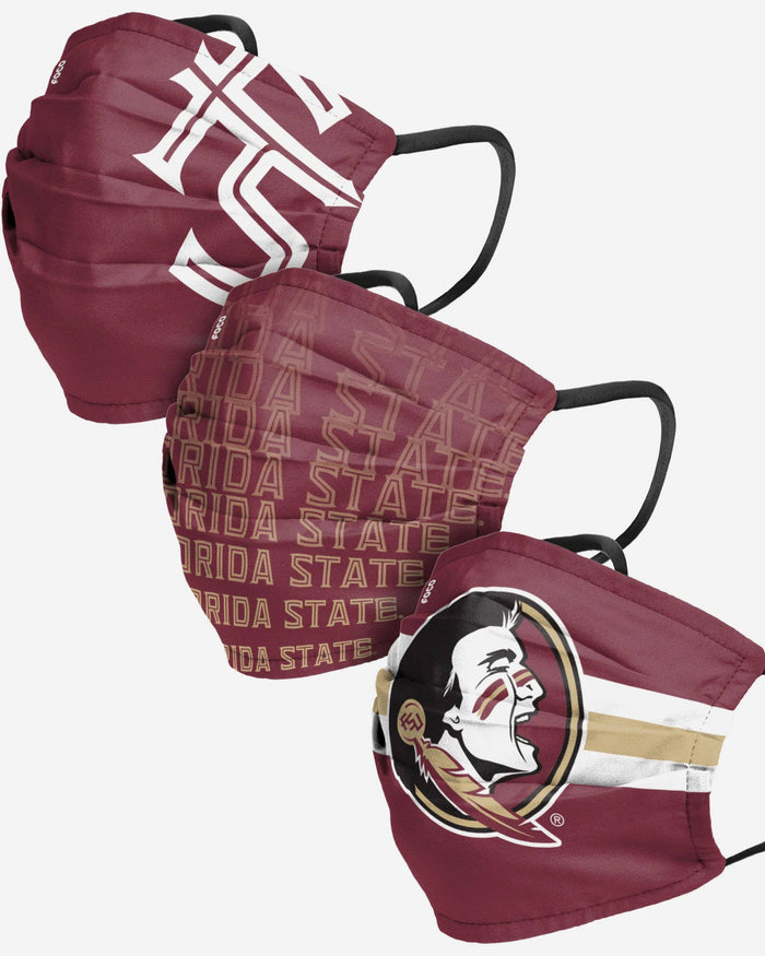 Florida State Seminoles Matchday 3 Pack Face Cover FOCO - FOCO.com