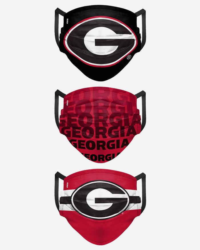 Georgia Bulldogs Matchday 3 Pack Face Cover FOCO - FOCO.com