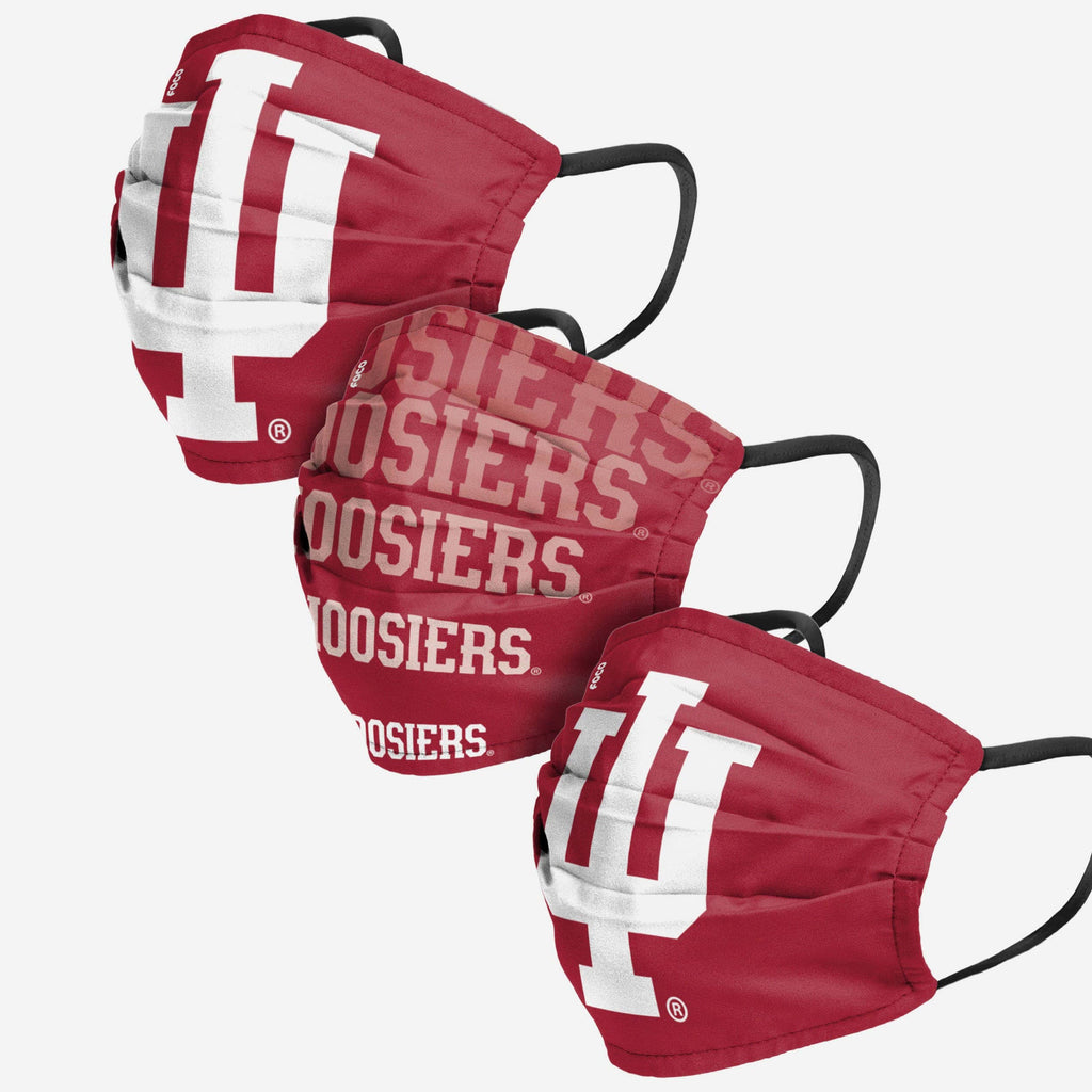 Indiana Hoosiers Matchday 3 Pack Face Cover FOCO - FOCO.com