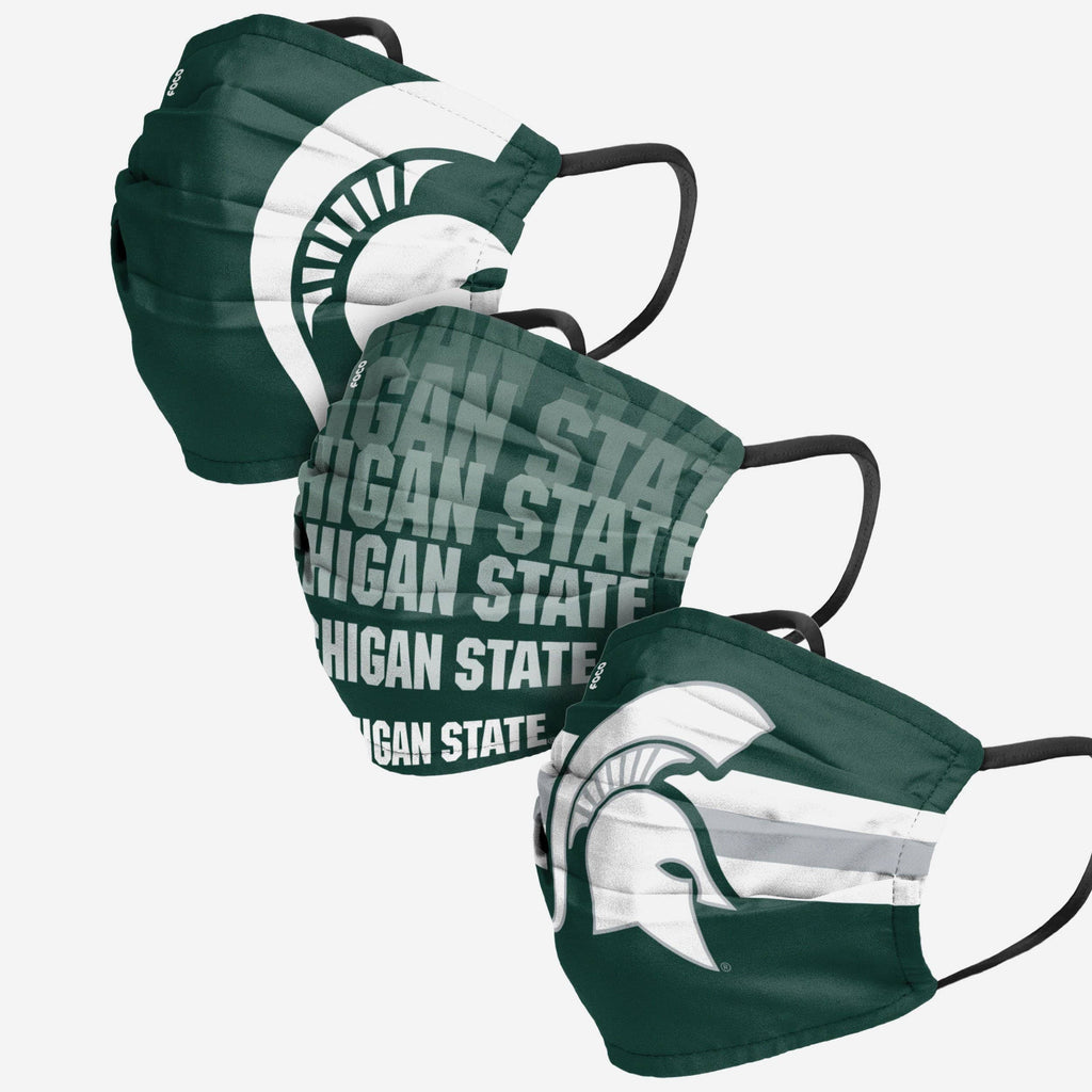 Michigan State Spartans Matchday 3 Pack Face Cover FOCO - FOCO.com