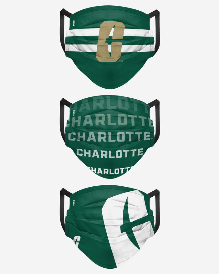North Carolina Charlotte 49ers Matchday 3 Pack Face Cover FOCO - FOCO.com