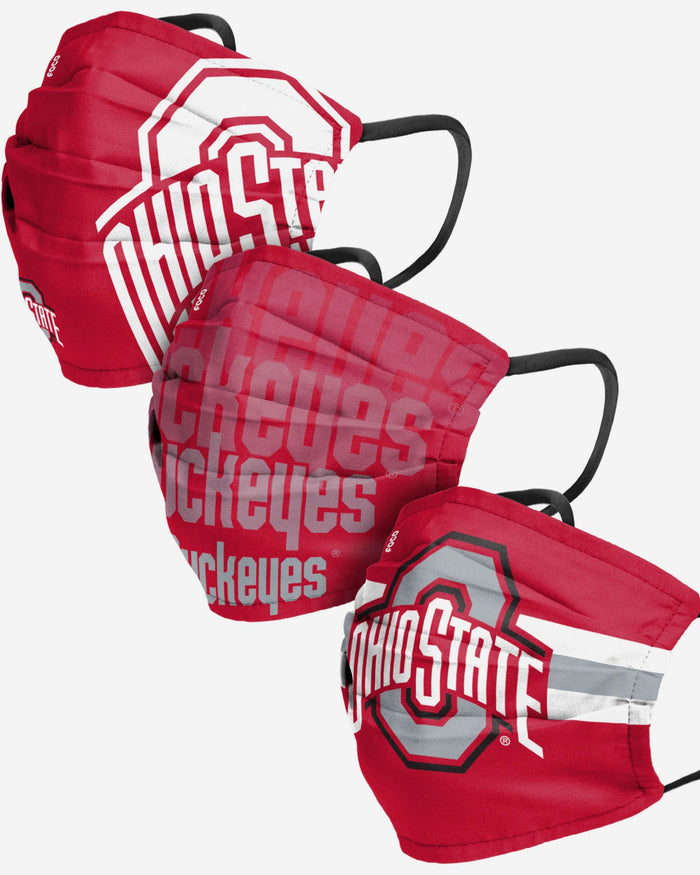 Ohio State Buckeyes Matchday 3 Pack Face Cover FOCO - FOCO.com