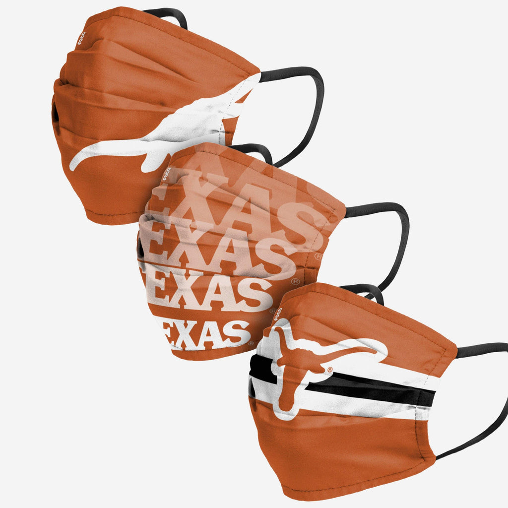 Texas Longhorns Matchday 3 Pack Face Cover FOCO - FOCO.com