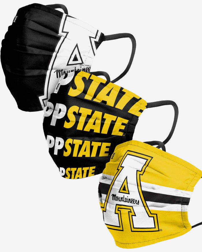 Appalachian State Mountaineers Matchday 3 Pack Face Cover FOCO - FOCO.com