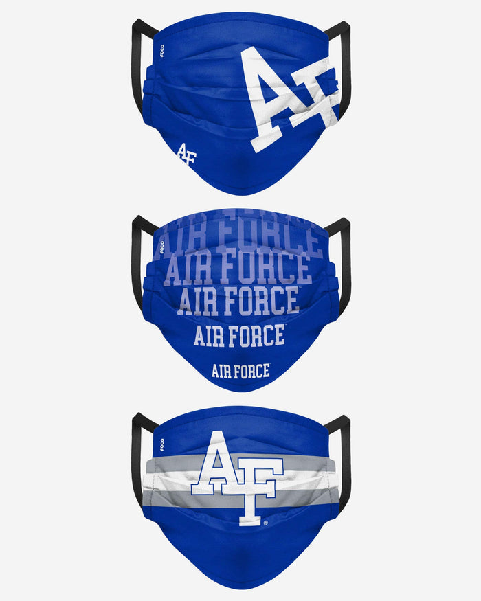 Air Force Falcons Matchday 3 Pack Face Cover FOCO - FOCO.com
