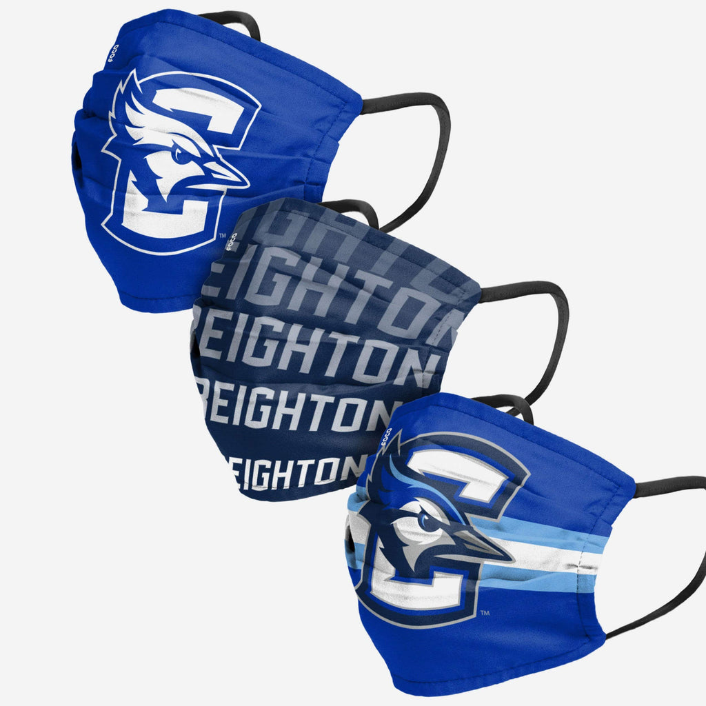 Creighton Bluejays Matchday 3 Pack Face Cover FOCO - FOCO.com