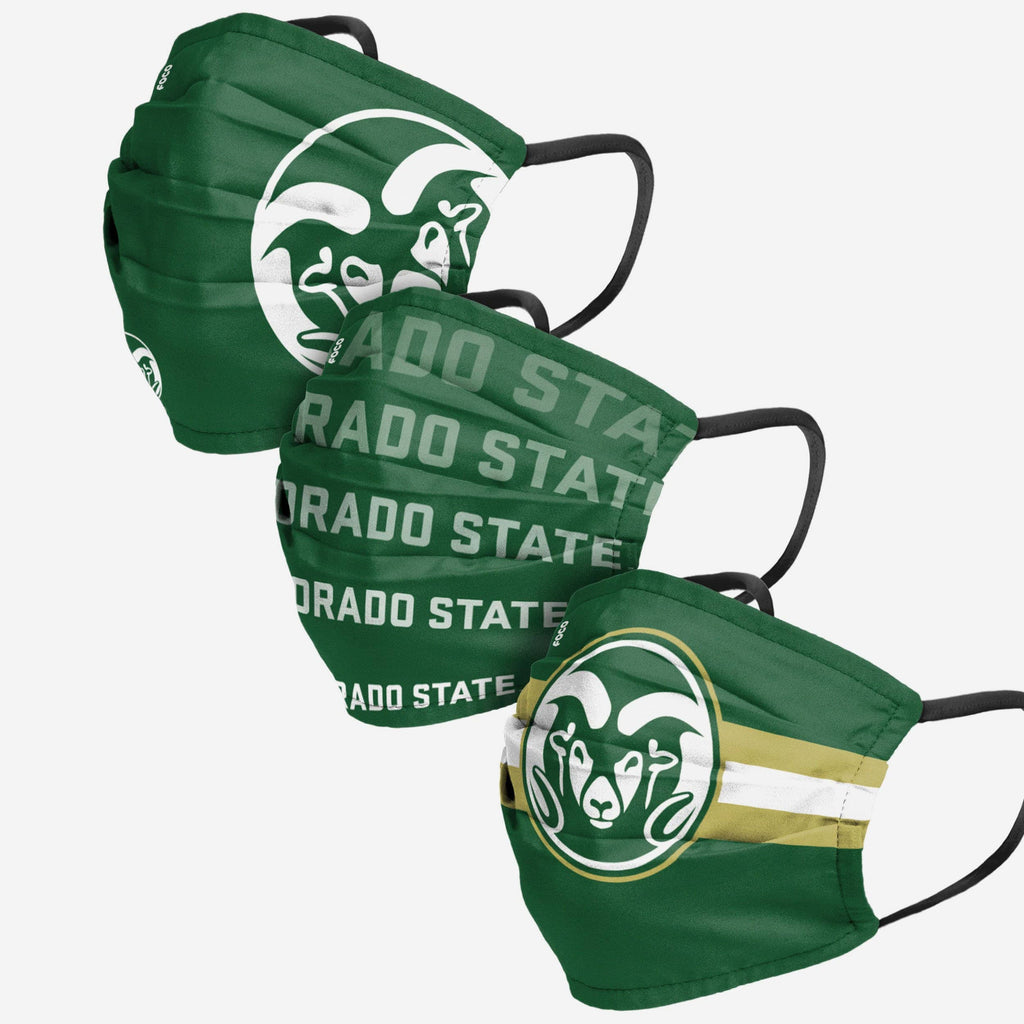Colorado State Rams Matchday 3 Pack Face Cover FOCO - FOCO.com