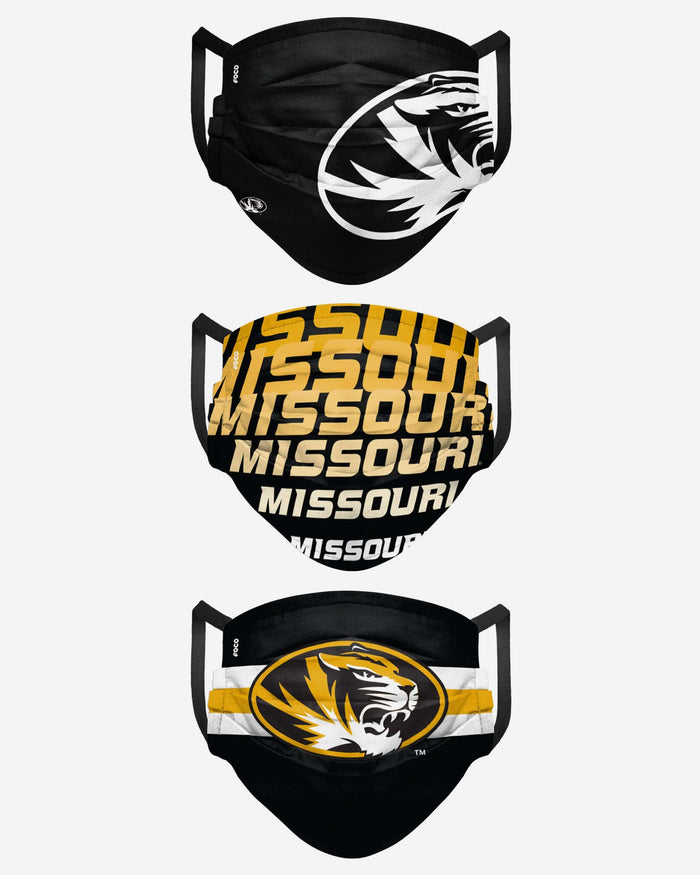 Missouri Tigers Matchday 3 Pack Face Cover FOCO - FOCO.com