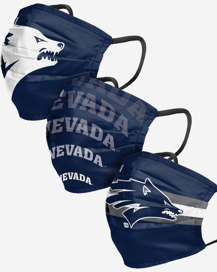 Nevada Wolf Pack Matchday 3 Pack Face Cover FOCO - FOCO.com