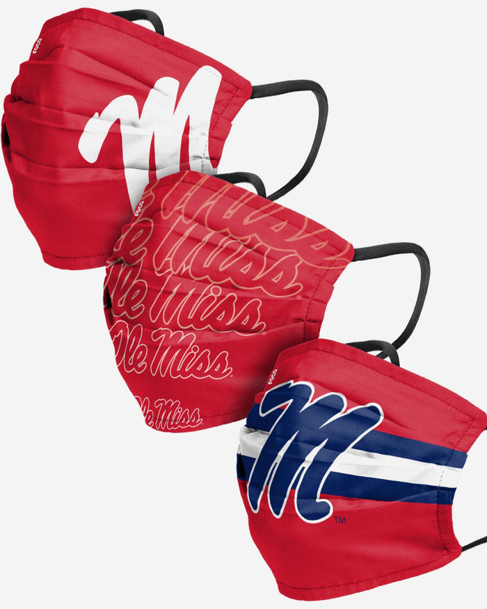 Ole Miss Rebels Matchday 3 Pack Face Cover FOCO - FOCO.com