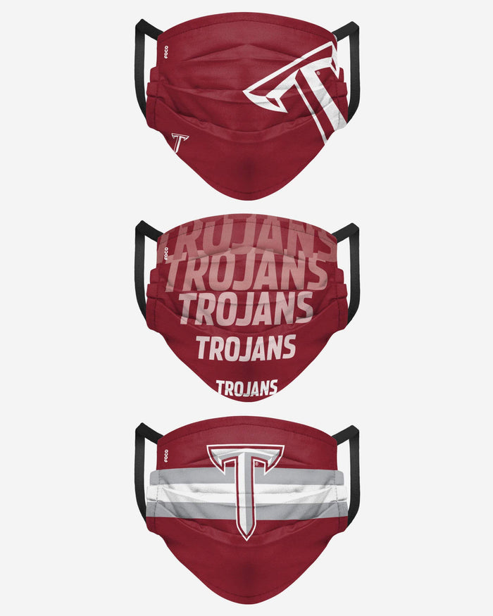 Troy Trojans Matchday 3 Pack Face Cover FOCO - FOCO.com