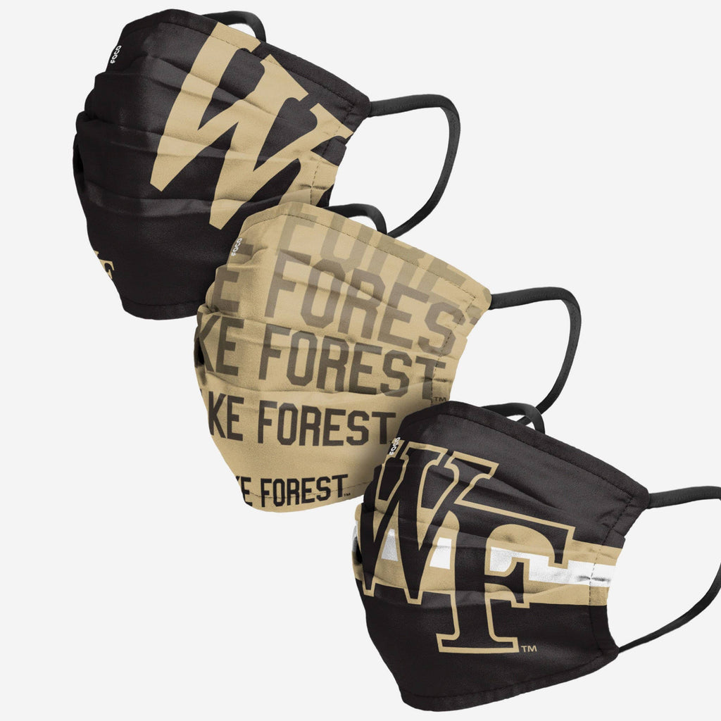 Wake Forest Demon Deacons Matchday 3 Pack Face Cover FOCO - FOCO.com
