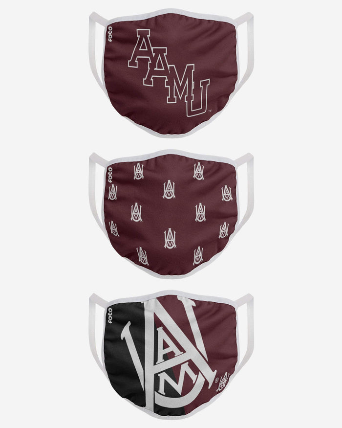 Alabama A&M Bulldogs 3 Pack Face Cover FOCO - FOCO.com