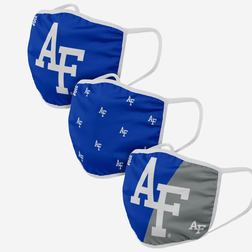 Air Force Falcons 3 Pack Face Cover FOCO - FOCO.com