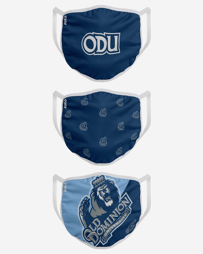 Old Dominion Monarchs 3 Pack Face Cover FOCO - FOCO.com