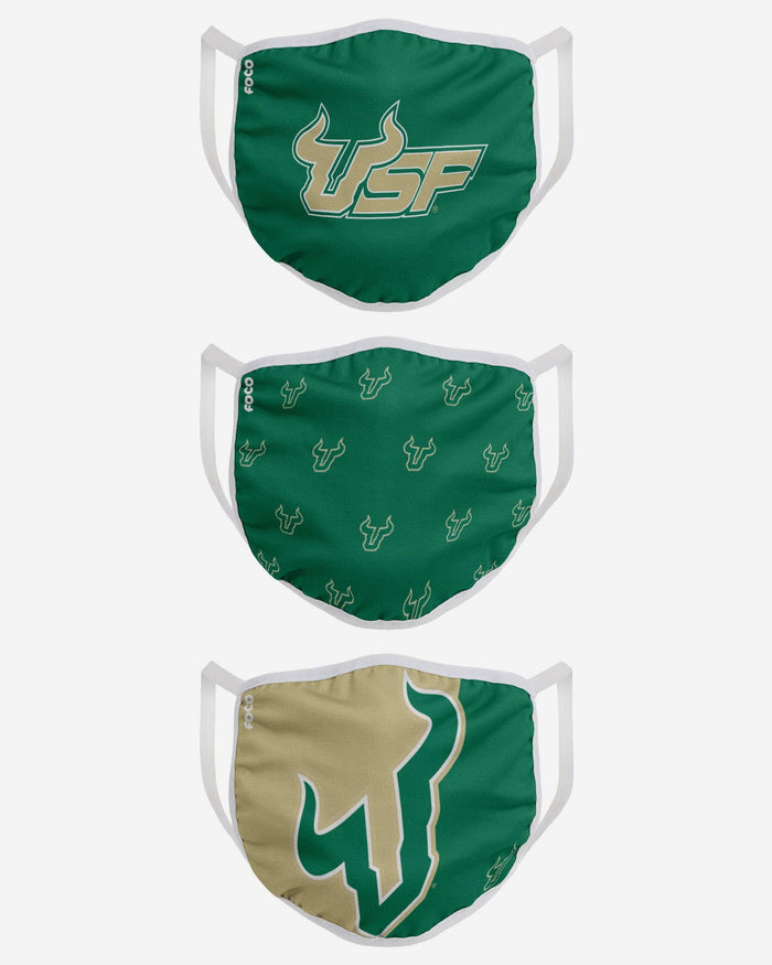 South Florida Bulls 3 Pack Face Cover FOCO - FOCO.com
