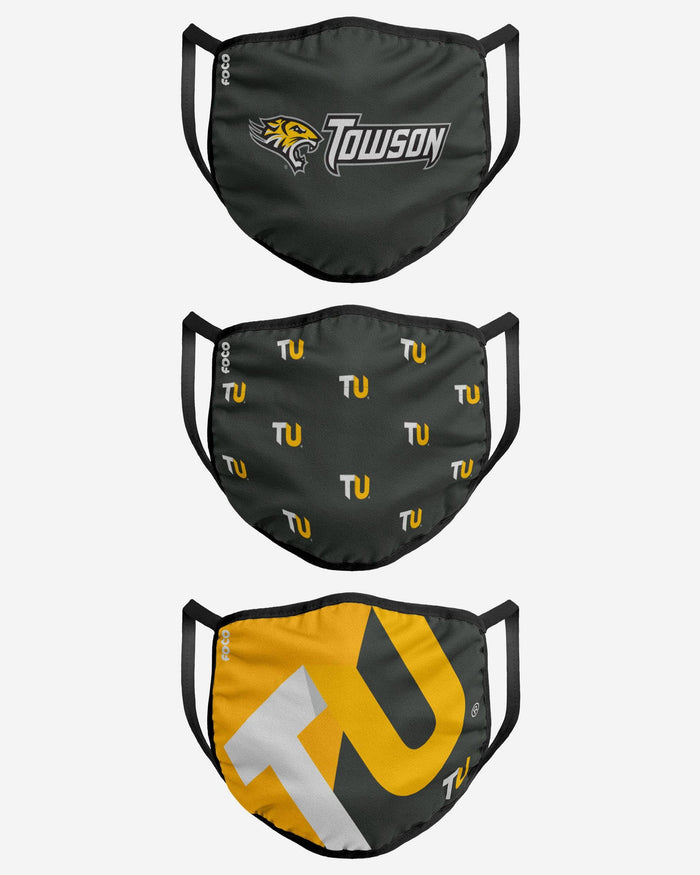 Towson Tigers 3 Pack Face Cover FOCO - FOCO.com