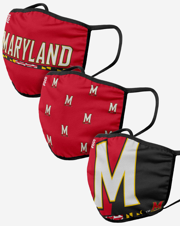 Maryland Terrapins 3 Pack Face Cover FOCO - FOCO.com