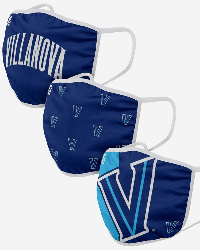 Villanova Wildcats 3 Pack Face Cover FOCO - FOCO.com