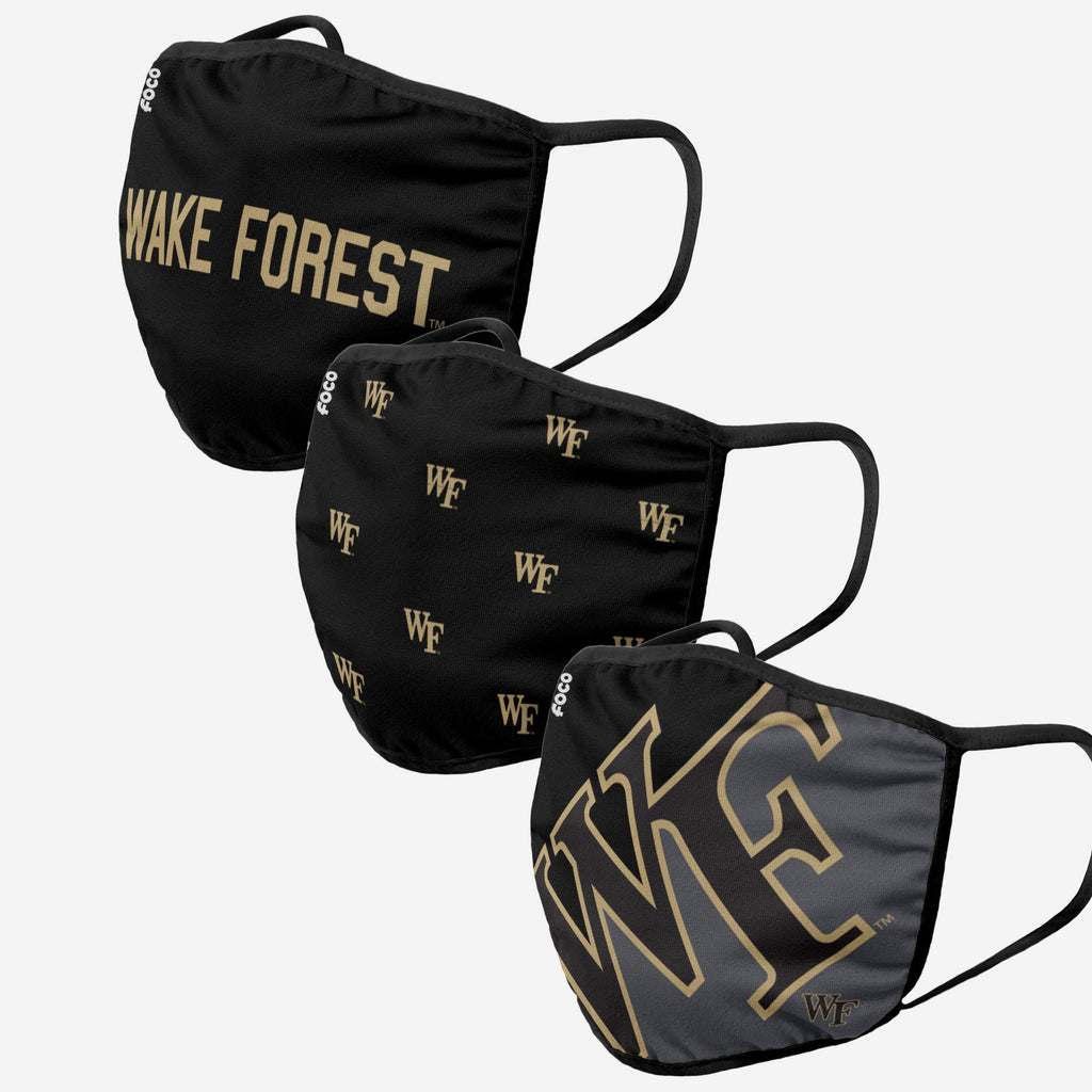 Wake Forest Demon Deacons 3 Pack Face Cover FOCO - FOCO.com