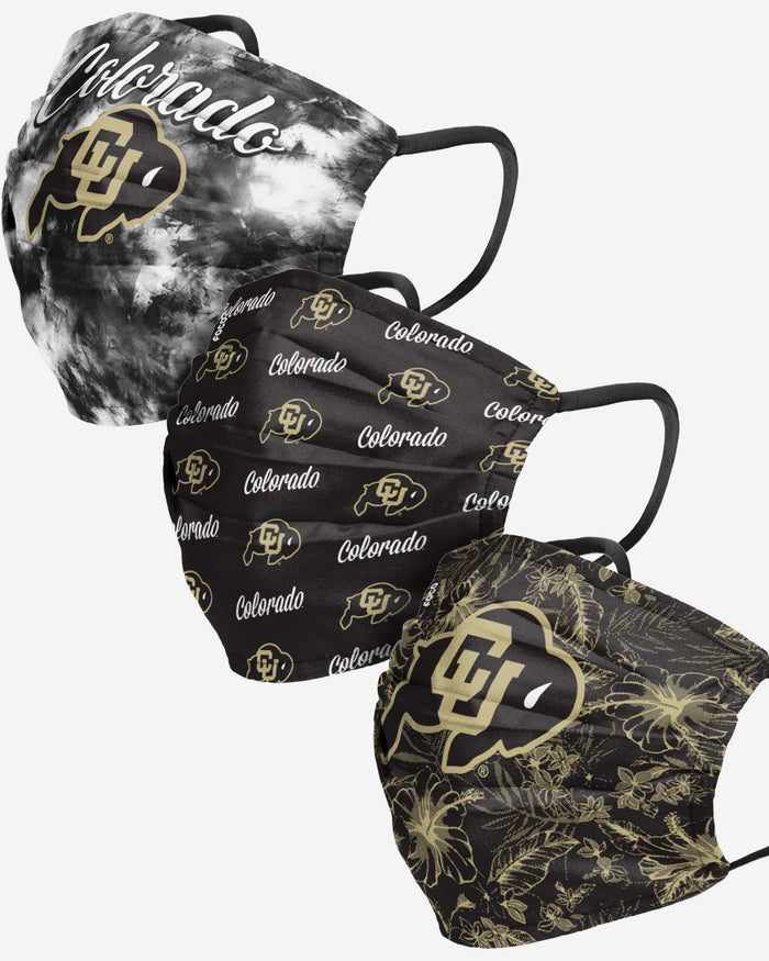 Colorado Buffaloes Womens Matchday 3 Pack Face Cover FOCO - FOCO.com