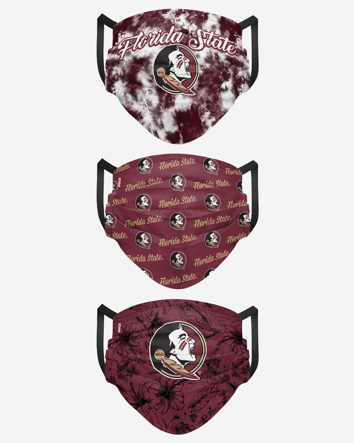 Florida State Seminoles Womens Matchday 3 Pack Face Cover FOCO - FOCO.com