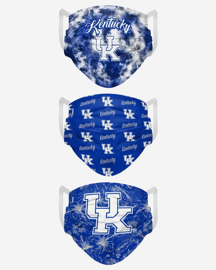 Kentucky Wildcats Womens Matchday 3 Pack Face Cover FOCO - FOCO.com