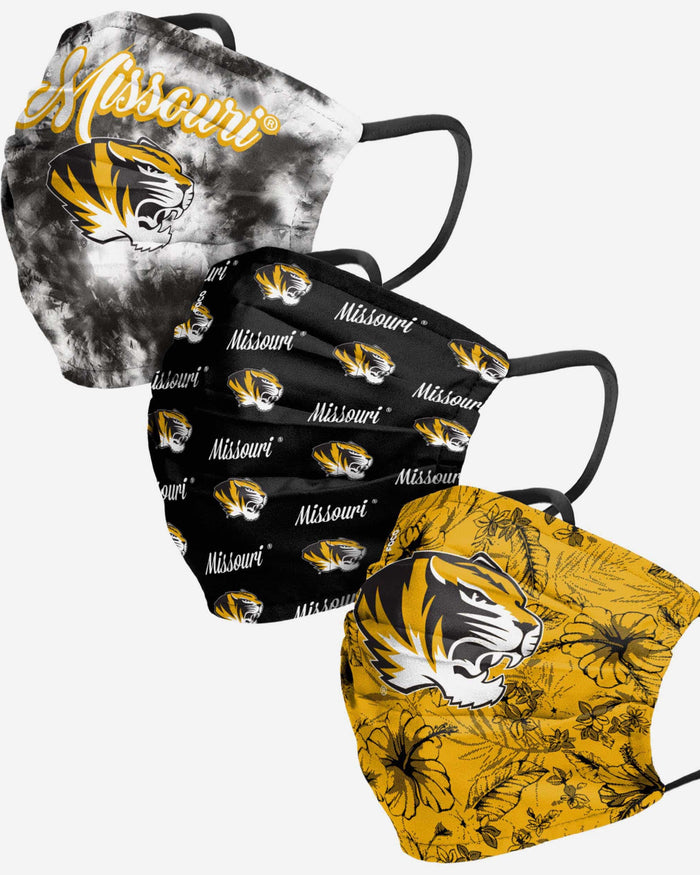Missouri Tigers Womens Matchday 3 Pack Face Cover FOCO - FOCO.com