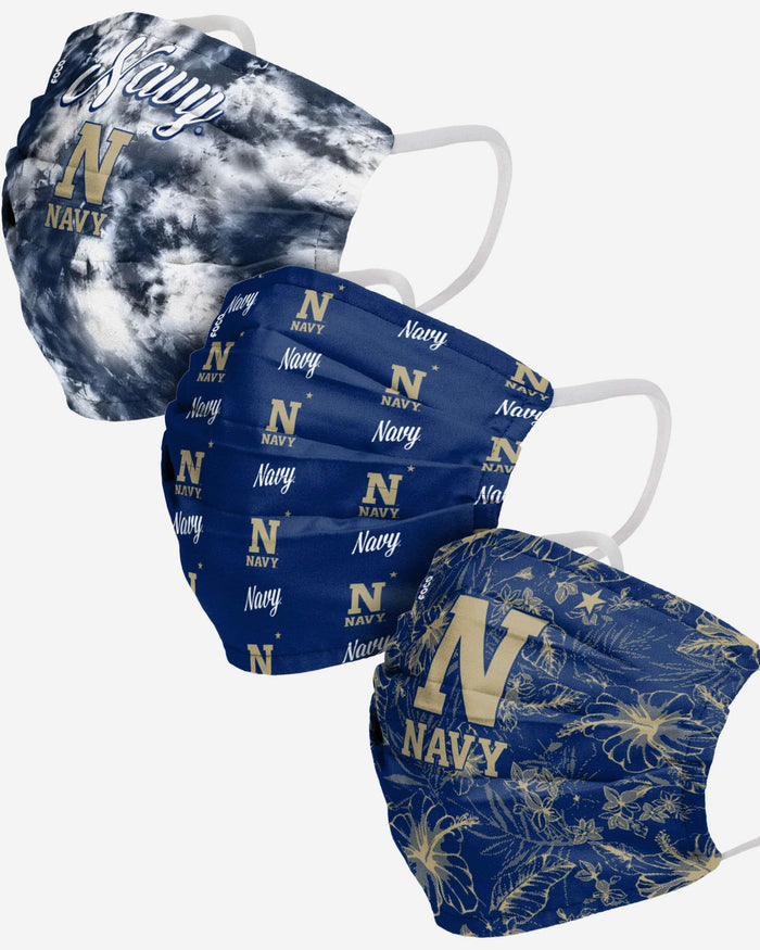 Navy Midshipmen Womens Matchday 3 Pack Face Cover FOCO - FOCO.com