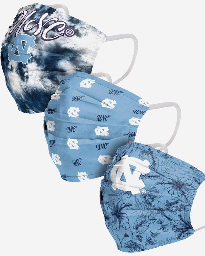 North Carolina Tar Heels Womens Matchday 3 Pack Face Cover FOCO - FOCO.com
