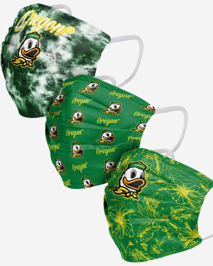 Oregon Ducks Womens Matchday 3 Pack Face Cover FOCO - FOCO.com