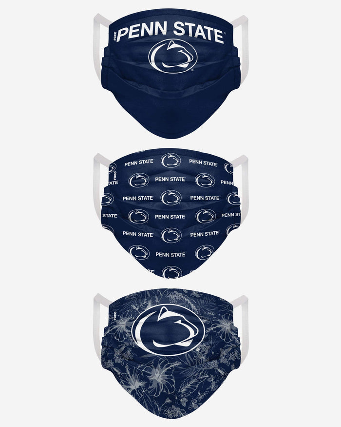 Penn State Nittany Lions Womens Matchday 3 Pack Face Cover FOCO - FOCO.com