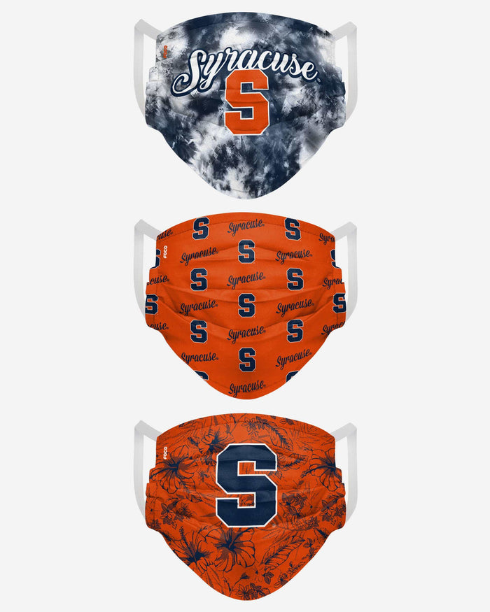 Syracuse Orange Womens Matchday 3 Pack Face Cover FOCO - FOCO.com