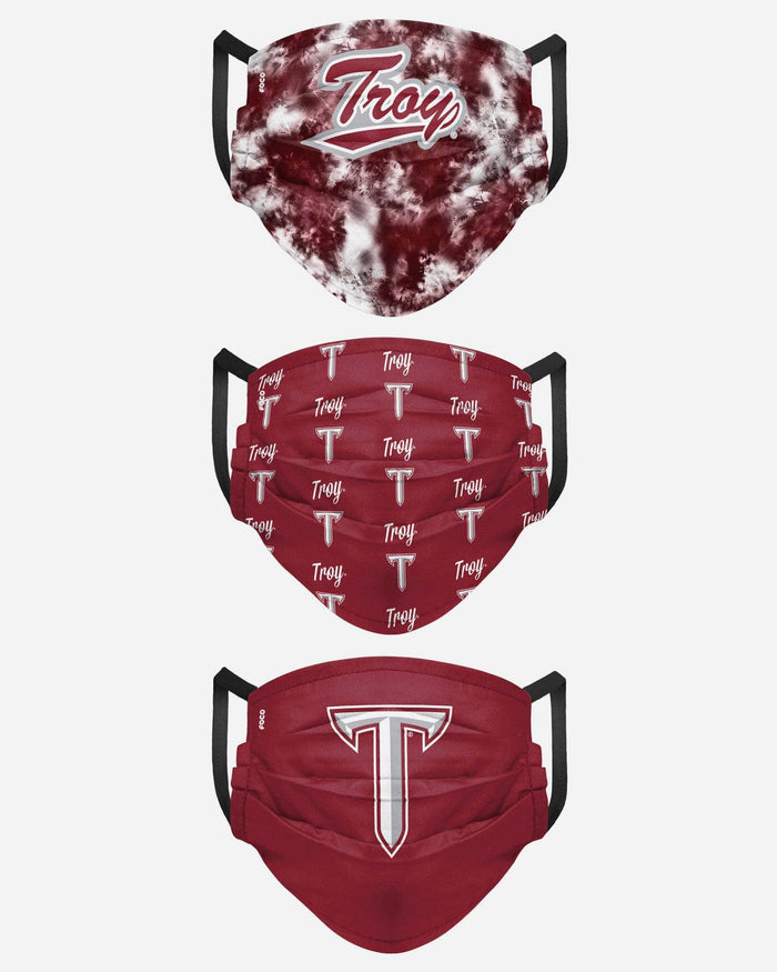 Troy Trojans Womens Matchday 3 Pack Face Cover FOCO - FOCO.com