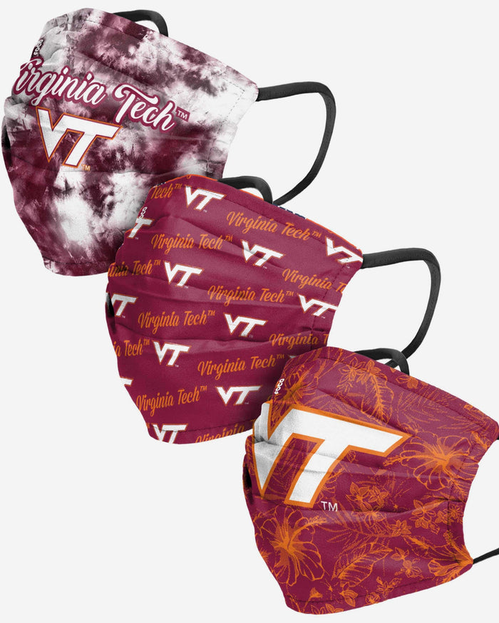 Virginia Tech Hokies Womens Matchday 3 Pack Face Cover FOCO - FOCO.com