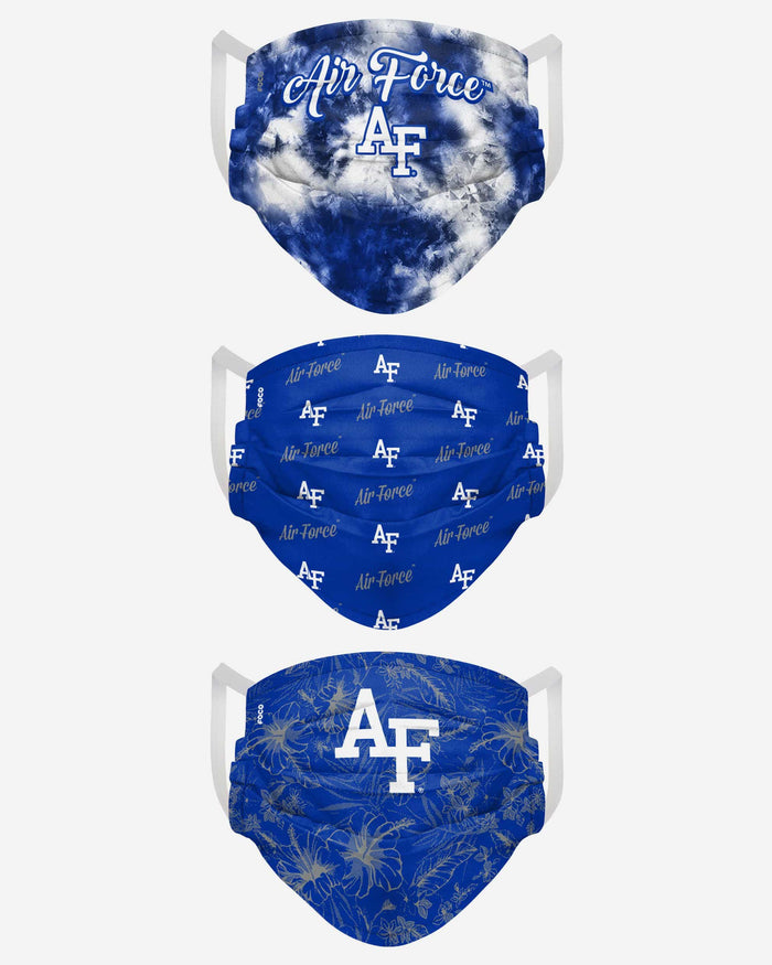 Air Force Falcons Womens Matchday 3 Pack Face Cover FOCO - FOCO.com