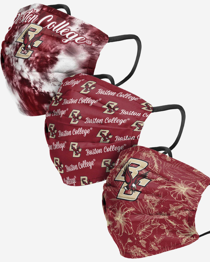 Boston College Eagles Womens Matchday 3 Pack Face Cover FOCO - FOCO.com