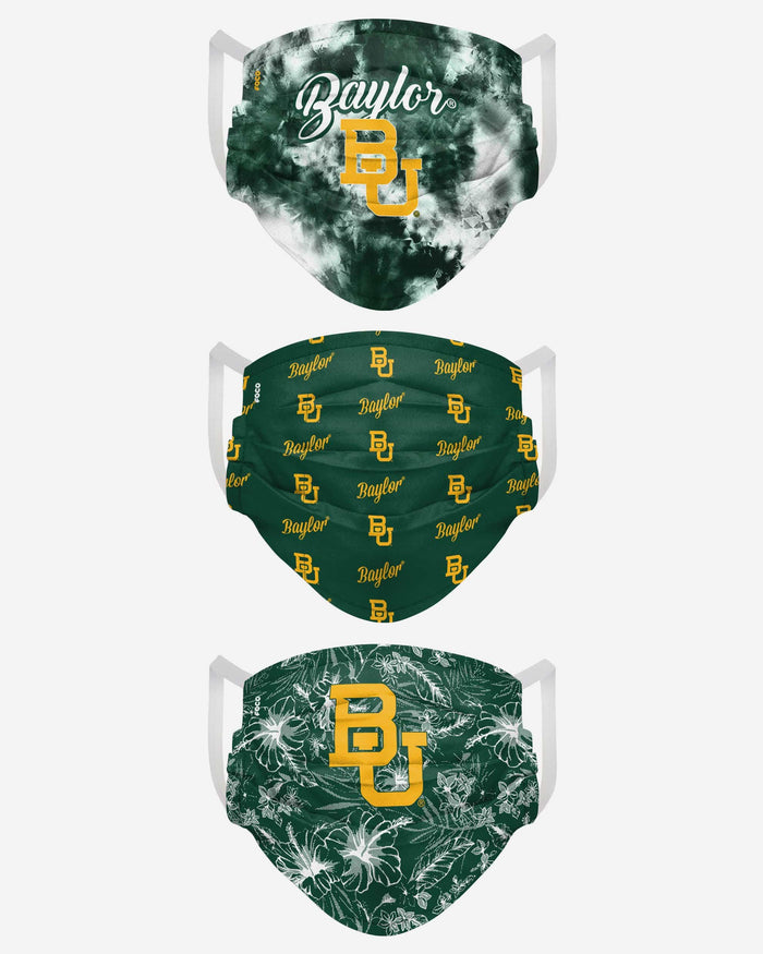 Baylor Bears Womens Matchday 3 Pack Face Cover FOCO - FOCO.com