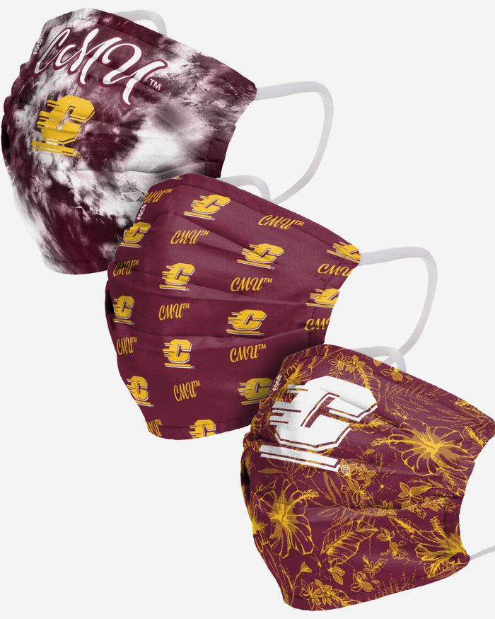 Central Michigan Chippewas Womens Matchday 3 Pack Face Cover FOCO - FOCO.com