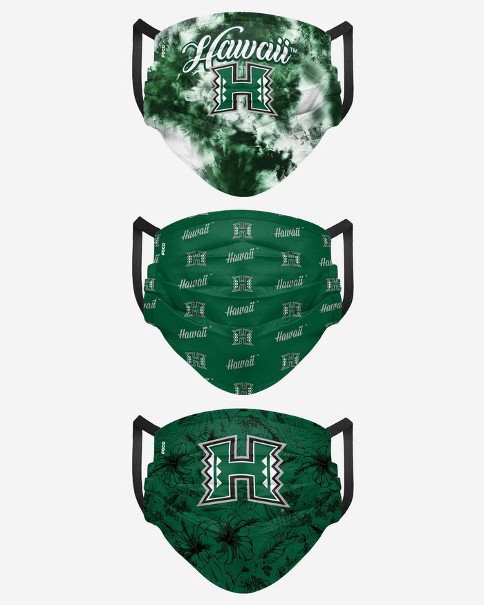Hawaii Rainbow Warriors Womens Matchday 3 Pack Face Cover FOCO - FOCO.com
