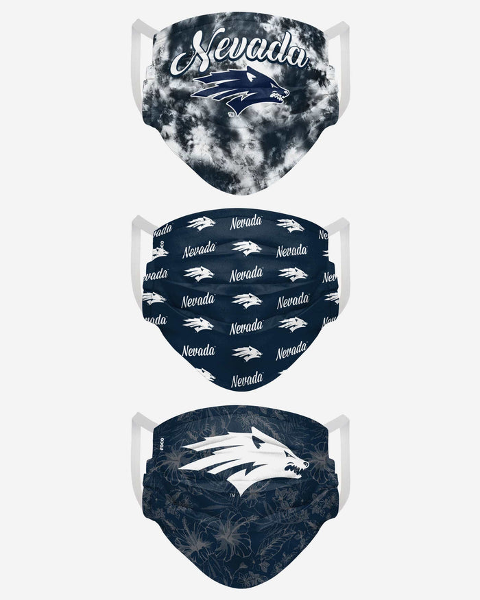 Nevada Wolf Pack Womens Matchday 3 Pack Face Cover FOCO - FOCO.com
