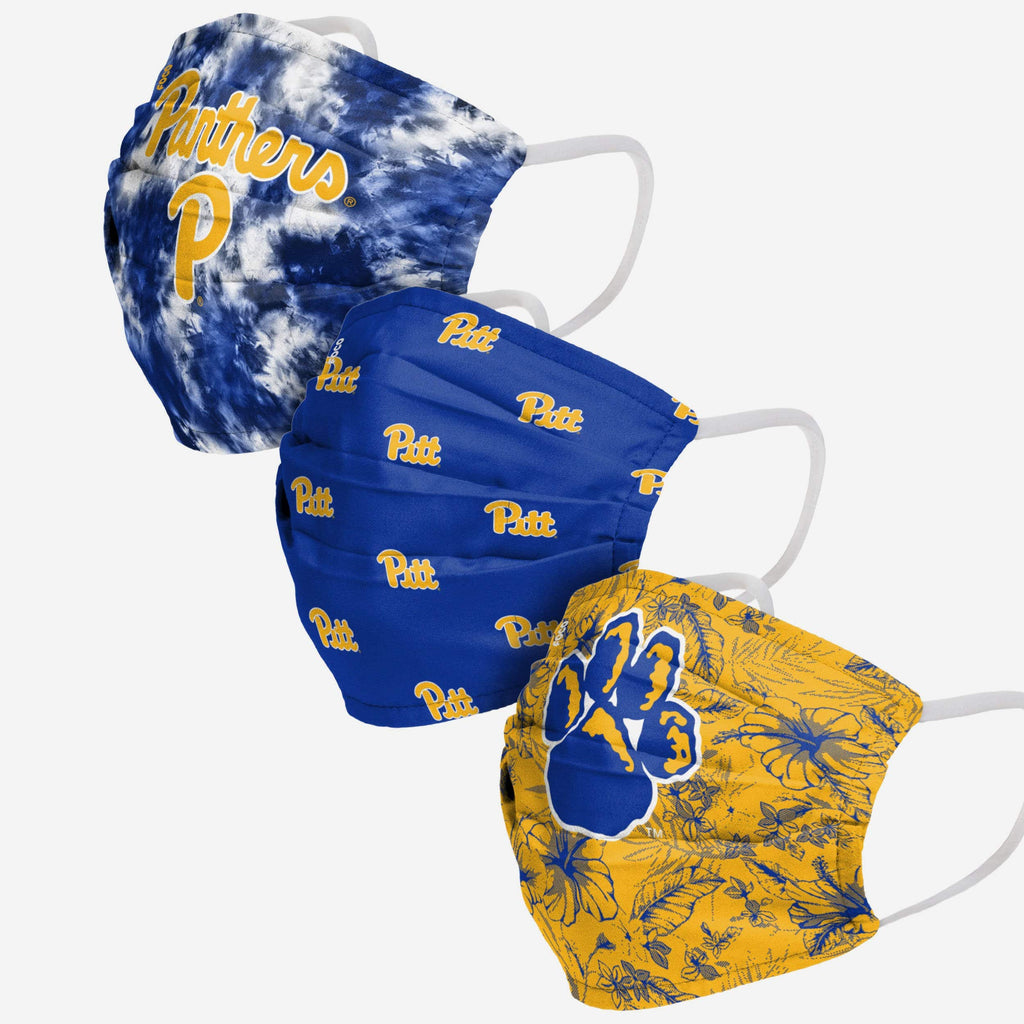 Pittsburgh Panthers Womens Matchday 3 Pack Face Cover FOCO - FOCO.com