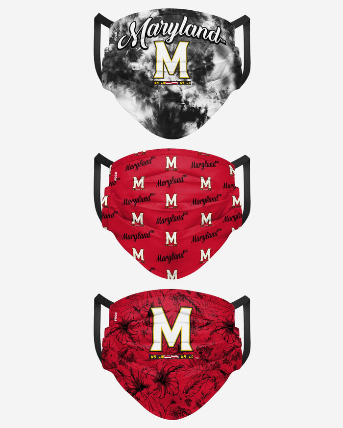 Maryland Terrapins Womens Matchday 3 Pack Face Cover FOCO - FOCO.com