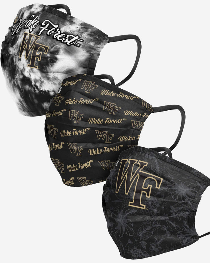 Wake Forest Demon Deacons Womens Matchday 3 Pack Face Cover FOCO - FOCO.com