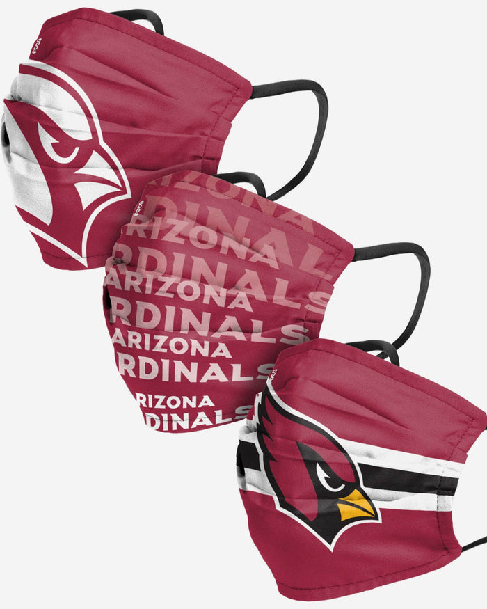 Arizona Cardinals Matchday 3 Pack Face Cover FOCO Adult - FOCO.com