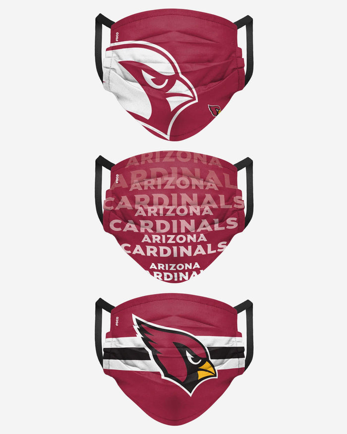Arizona Cardinals Matchday 3 Pack Face Cover FOCO - FOCO.com