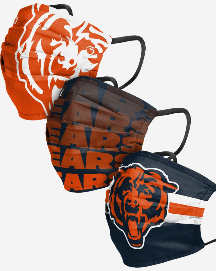 Chicago Bears Matchday 3 Pack Face Cover FOCO Adult - FOCO.com