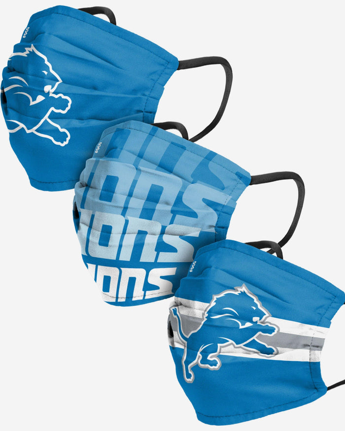 Detroit Lions Matchday 3 Pack Face Cover FOCO - FOCO.com